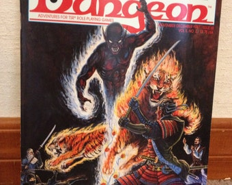 Dungeon Magazine # 8 - classic adventures for TSR Dungeons & Dragons