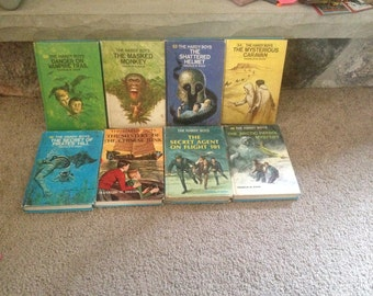 Hardy Boys Lot of 8 Hardcover Books from 1970s