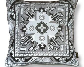Sofa pillow grey-black velvet cushion cover GREY LATE