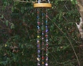Handmade Handcrafted Stained Glass Windchime Suncatcher