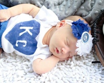 KC Royals Newborn Headband - Kansas City Royals Newborn Headband - KC Royals Headband - Kansas City Royals Headband