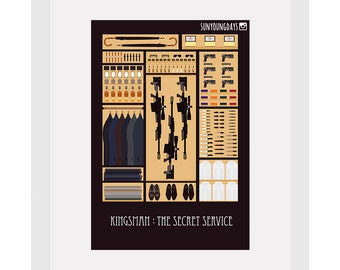 kingsman postcard 4'X6'