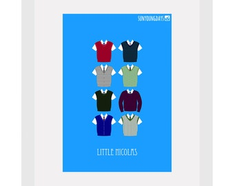 the little nicolas movie poster postcard 4'X6'