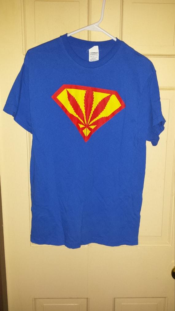 Vintage 90s marijuana leaf t shirt adult medium by for Adult medium t shirt