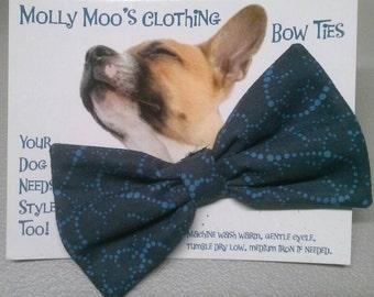 Dark Blue Collar Bow Tie
