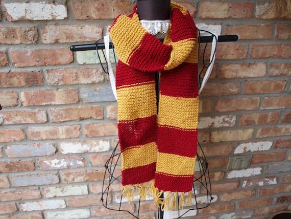 SALE: Hand knit Gryffindor Scarf