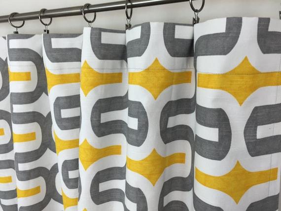 Rideau gris et jaune - Rideau bleu et jaune ...
