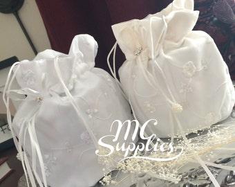 Bridal money bag,weddings,money bag,bridal bag,wedding purse,white money bag,ivory money bag,white bridal bag,ivory bridal bag.