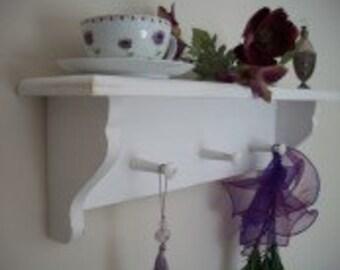 Shabby chic distressed shelf