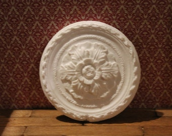 DOLLHOUSE MINIATURE Ceiling Rose Circle Federation Decorated