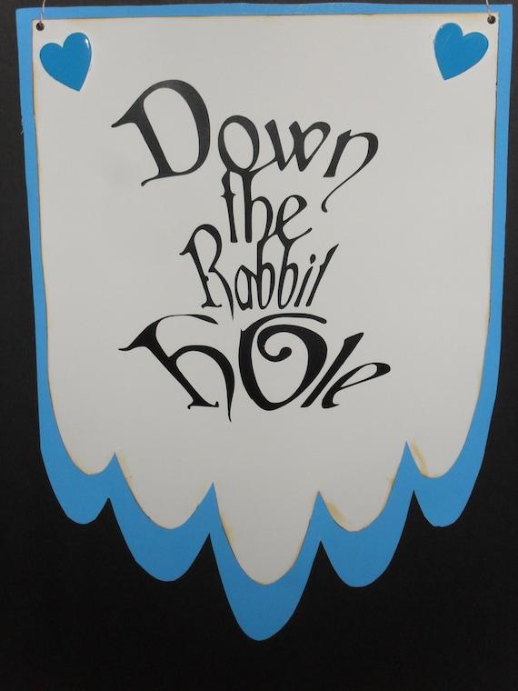 alice in wonderland down the rabbit hole pdf