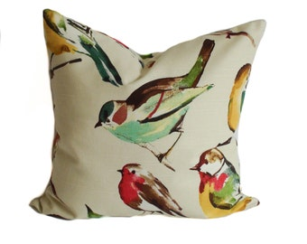 Bird pillow, Pillow covers, Throw pillow, Toss pillow, Decorative pillows, Couch cushions, Euro shams, 18x18, 20x20, 22x22, 24x24, 26x26
