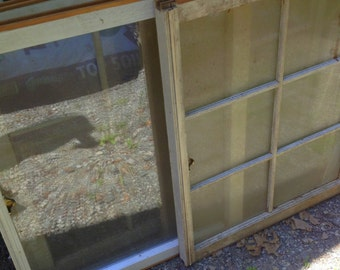 Antique Vintage Distressed 6, 8 and No Pane White Window Frames