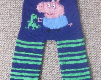 Peppa or George Pig,Thomas ,Digger,Camper van  pure wool longies . you choose  , nappy diaper cover soaker