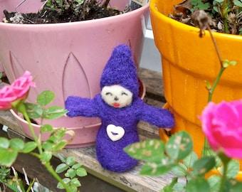 Pixie Girl, Needle Felted Pixie, Handmade Pixie Doll, FeltWithAHeart