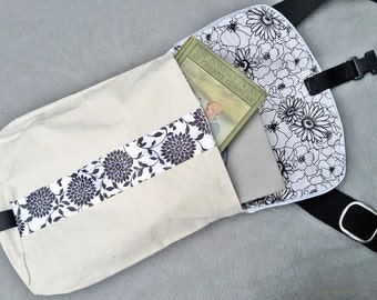 Canvas Messenger Bag, Woman's Small Urban Messenger Bag, canvas bag, reflective messenger bag, reflective bag, adjustable strap, cycling bag