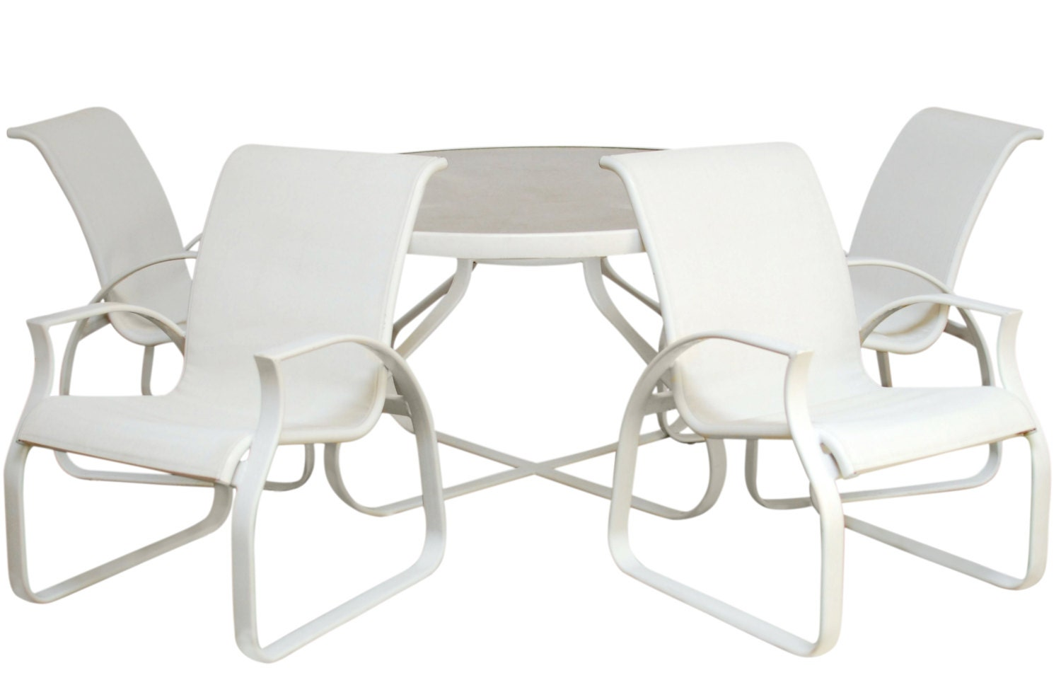 MCM Aluminum Tropitone Patio Furniture Set by ErinLaneEstate