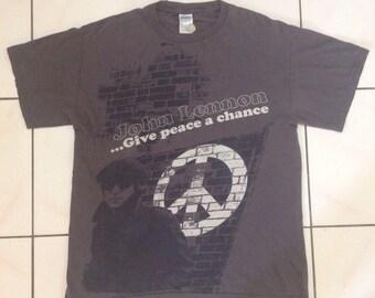 Rare Vintage John Lennon Give Peace A Chance Shirt