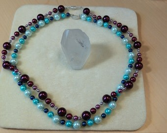 Burgundy Themed Necklace
