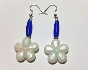 """Earrings """"Blue & White 9"""""""
