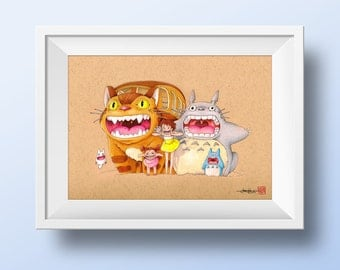 My Neighbour Totoro -  Illustrated Giclee Print