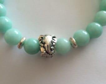 Blue Jade Elephant Bracelet!!