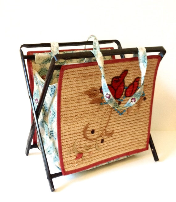 Knitting Bag Stand : Vintage knitting bag s stand by goodsgarb on etsy