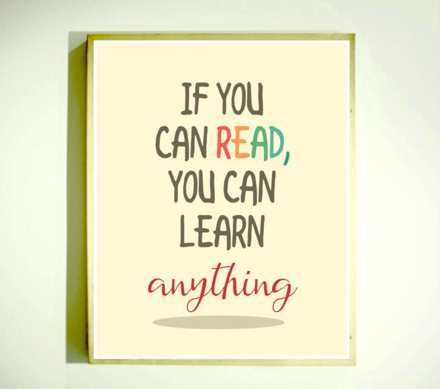 Reading Sign / Classroom Art / Educational Poster / Reading