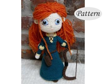 PATTERN - MERIDA - Amigurumi - Crochet Doll - Photo Tutorial - PDF