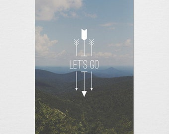 Let's Go Photography Typography Print