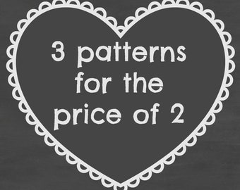 Any 3 patterns for the price of 2