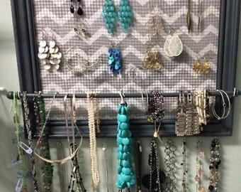 Custom framed jewelry organizer / jewelry holder