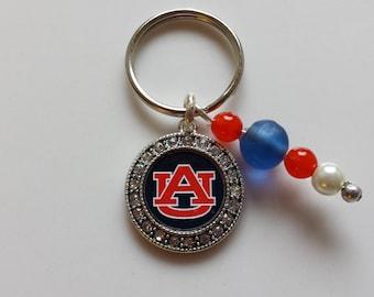 University of Auburn Keychain, Keychain, Auburn Tigers, Accessory, SEC, University of Auburn, Keys, Blue & Orange, Tigers
