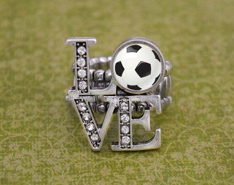 LOVE Soccer Stretchy Ring