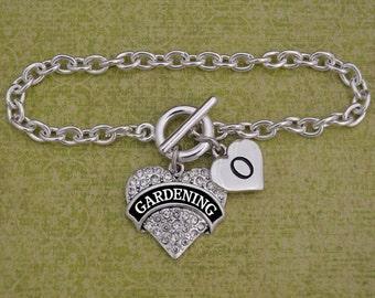 Custom Initial Gardening Bracelet