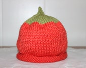Reserve Listing For Johanna Only Three-Six Months Size Pumpkin Knit Hat and Six-Twelve Months Size Acorn Knit Hat