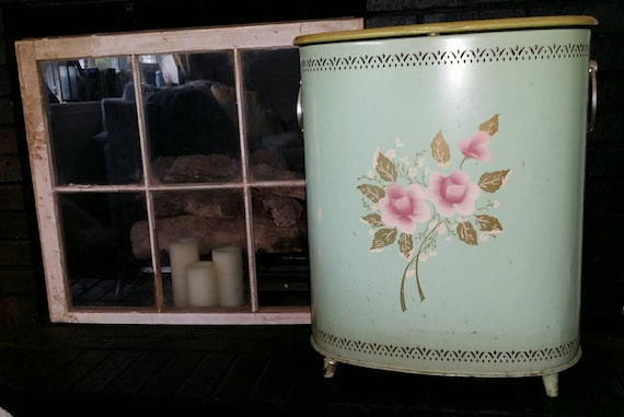 Shabby Chic Vintage Detecto Laundry Hamper By