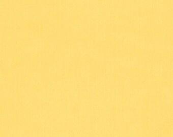 Yellow Kona Cotton Fabric - Lemon by Robert Kaufman - 1/2 Yard