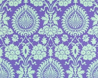 Damask Fabric - Bali Gate in Periwinkle by Amy Butler - 1/2 Yard