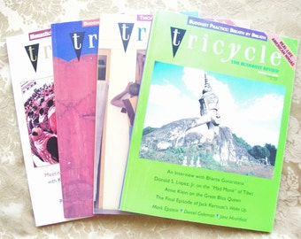 Vintage Tricycle Buddhist Review Magazine 4 Pack from 1995