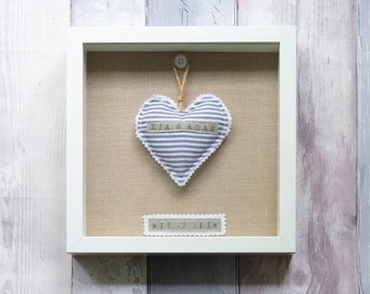 Personalised Wedding Gift Box Frame, Framed Wedding Keepsake, Custom Made Wedding Present
