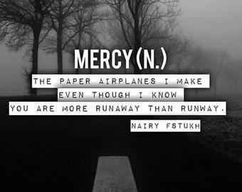 Poetry Print - Nairy Fstukh - Mercy