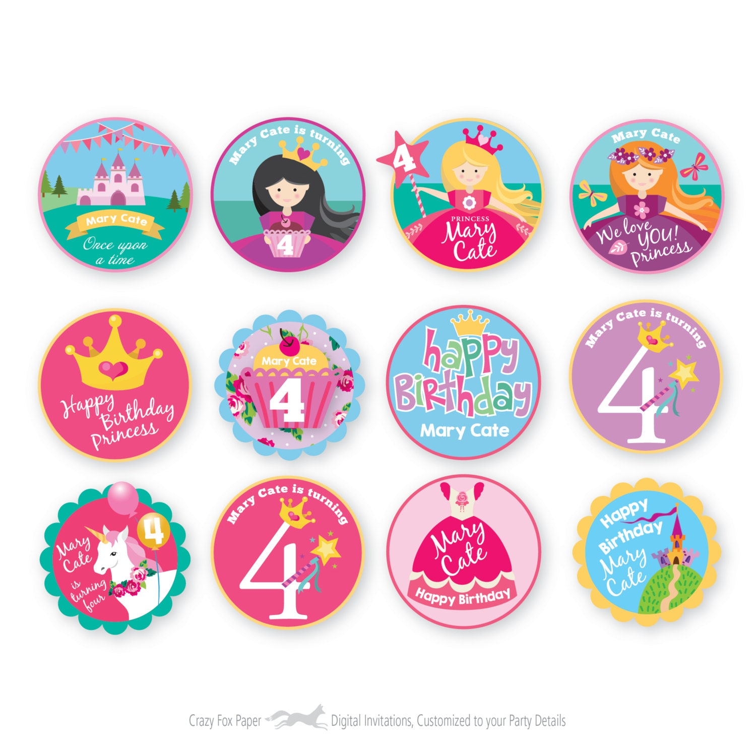 Diy Princess Cupcake Toppers | www.imgkid.com - The Image ...