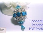 "Bead Pattern tutorial - How to make beaded bead - ""Connection"" beaded bead - (English or Italian available)"