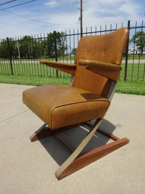 Vintage Mid Century Style Spring Cantilever Rok A Chair Free