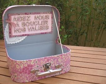 Custom pink bag / urn wedding |liberty|