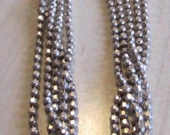 Diamond Cut Sterling Silver 5 Strand Bracelet