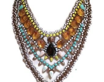 PRINCESS KATE painted rhinestone necklace
