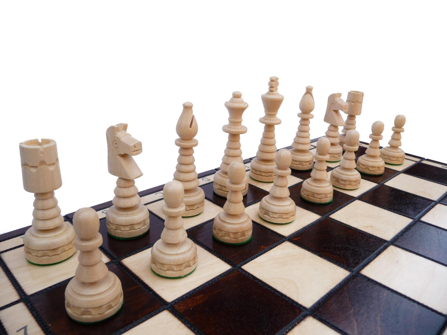 Stylish And Unique Wooden Chess Set 48x48cm By Stylishchess