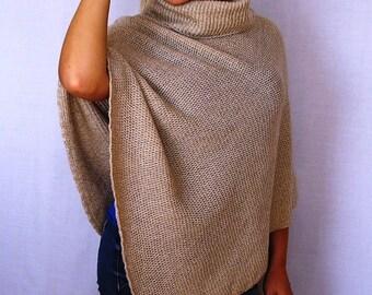 Women Poncho 100% wool sweaters Pure New Wool Cape Women's Cape Coat Bordeaux Wool Poncho Feminine Shawl Ponchos For Women Cape